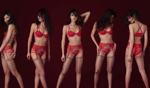 Red hot lucky lingerie for Chinese New Year and Valentine's Day