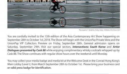 Interview Opportunity: Asia Contemporary Art Show Opens in Two Weeks!