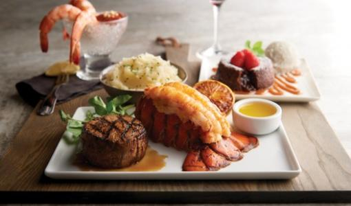 INDULGE IN SIZZLING STEAK & SEAFOOD AT MORTON'S THE STEAKHOUSE