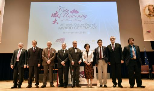 The 35th World Cultural Council Award Ceremony successfully held at CityU