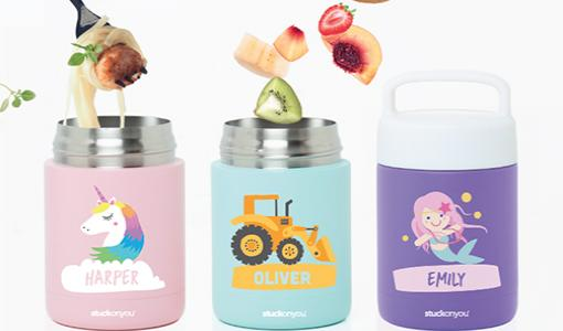 Personalise your own thermal Food Jar from Stuck On You