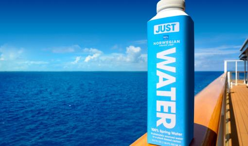 NORWEGIAN CRUISE LINE PARTNERS WITH JUST GOODS, INC. TO ELIMINATE SINGLE-USE PLASTIC BOTTLES ACROSS FLEET