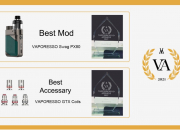 لقد نال VAPORESSO Swag PX80 جائزة أفضل تصميم عصري في حفل توزيع جوائز Vapouround لعام 2021